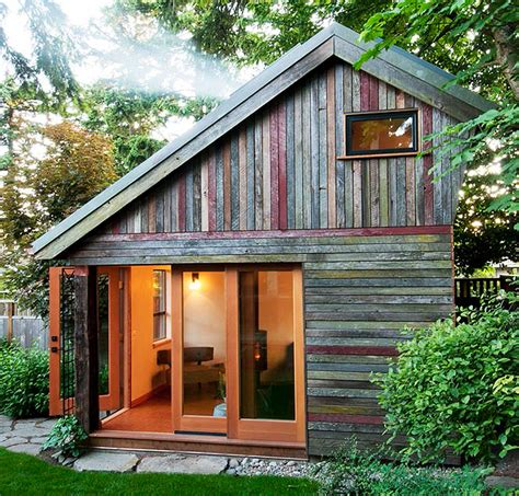 Building A Small House In The Backyard by Rustic And Beautiful Backyard Micro House Is Built From