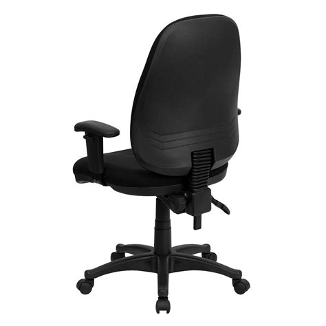 adjustable height desk chair ergonomic home high back black fabric executive ergonomic