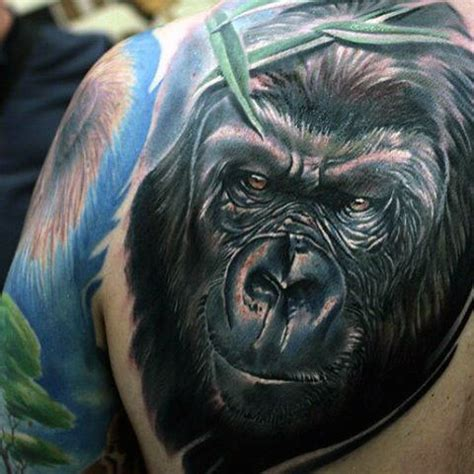 silverback gorilla tattoo silverback gorilla on back