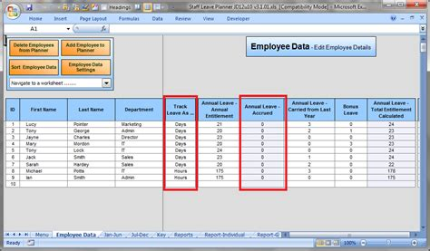 12 Employee Tracking Templates Excel Pdf Formats Employee Vacation Accrual Template