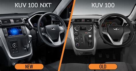 comparison between new mahindra kuv100 nxt and kuv100 sagmart