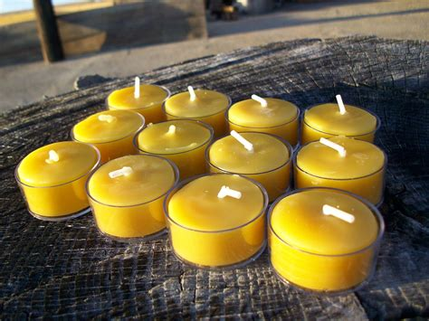 beeswax tea lights bulk beeswax set of 12 natural beeswax tea lights in clear
