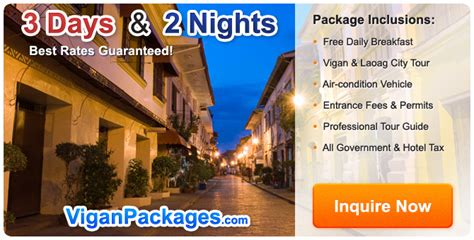 Cheapest Rates On Vigan Packages For 2017 ilocos tour package 2017