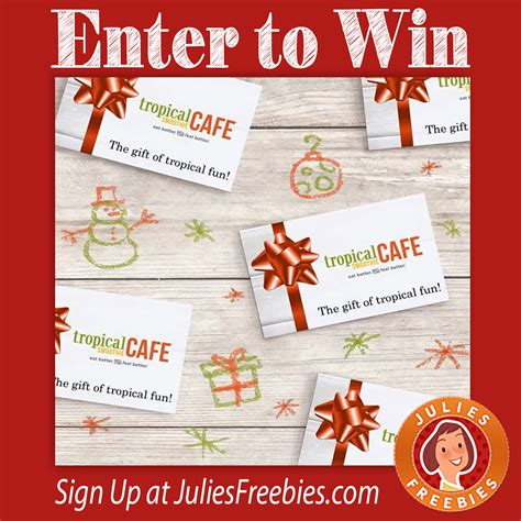 Tropical Smoothie Gift Card - win a 100 tropical smoothie gift card julie s freebies