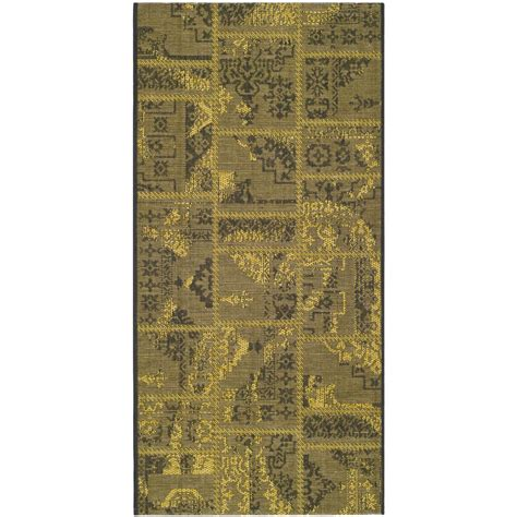 black and green area rugs safavieh palazzo black green 2 ft 6 in x 5 ft area rug pal121 56c10 3 the home depot