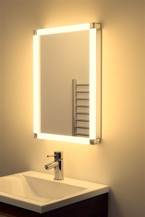 led bathroom mirrors with demister chane led glow bathroom mirror with sensor shaver