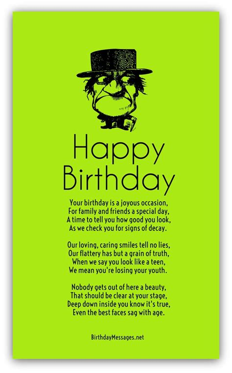 Humorous Birthday Quotes Funny Birthday Poems Page 2