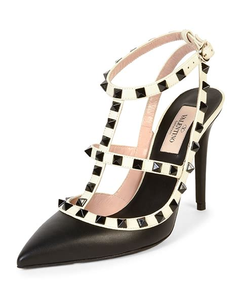 10 Best Valentino Shoes by Valentino Rockstud Colorblock Leather Sandal In Black Lyst
