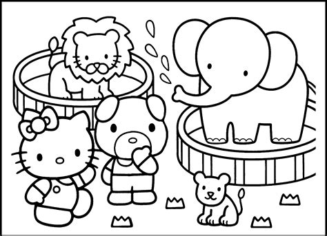free printable coloring sheets zoo animals preschool zoo coloring pages coloring home