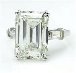 HUGE 6.87ct Emerald Cut Three Stone Diamond Engagement