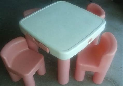 little tikes table and chairs pink rare little tikes pink and white table w 2 chairs childhood