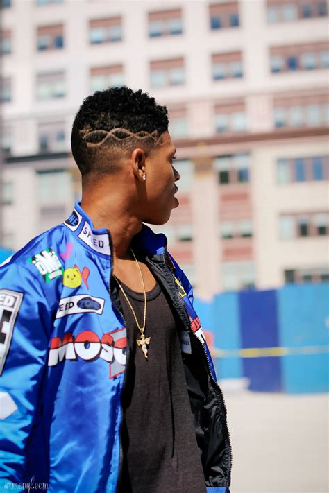 hakeem lyon hair cut empire s bryshere gray at fashion week armenyl