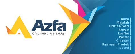 desain grafis percetakan portofolio azfa offset printing design
