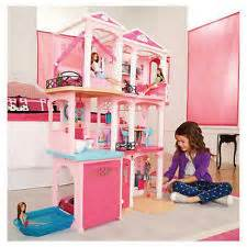 Barbie size wooden dollhouse w furniture girls playhouse doll play