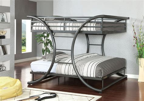 full over full bunk beds for adults lexis full over full gun metal finish bunk bed