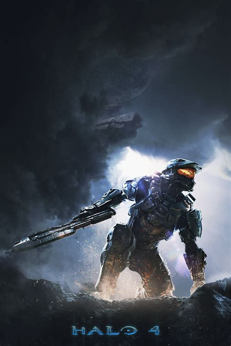 Halo 4 Poster Kayu 30x22 halo 4 poster on behance