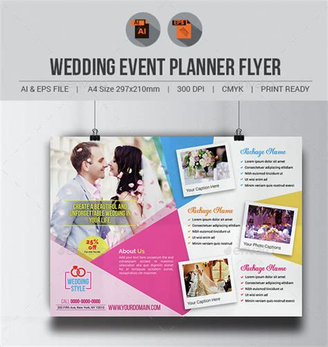Wedding Planner Flyer by 40 Event Flyer Exles Free Premium Templates