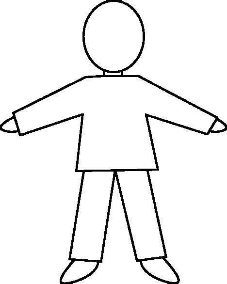 coloring page of a person s outline person outline coloring page cliparts co