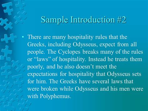 theme exles in the odyssey the odyssey hospitality essays ppt download