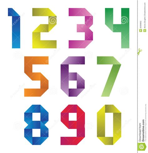 How To Make Origami Numbers - numbers stock photography image 26399852