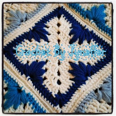 leaf pattern square original crochet pattern using a quot leaf quot stitch for a