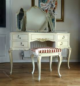 Wood Vanity Stool Antiques Atlas Painted French Louis Dressing Table Amp Stool