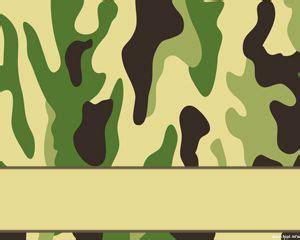 Military Powerpoint Template Camouflage Powerpoint Template