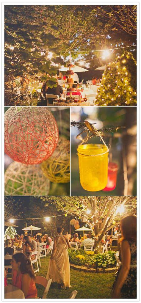 diy backyard wedding reception new york backyard wedding kali hansel real weddings