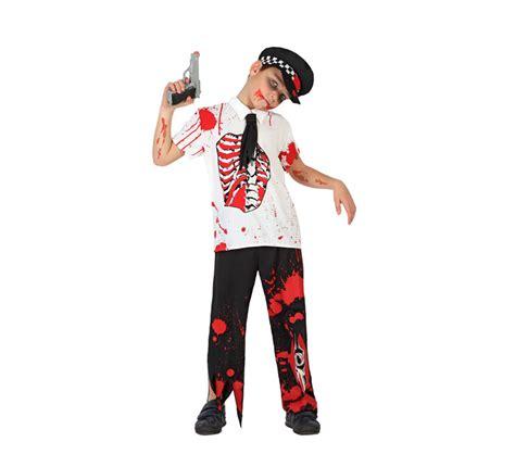 imagenes de zombies para halloween para niños disfraz de polic 237 a zombie sangriento para ni 241 o