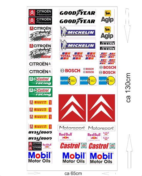 Auto Aufkleber Marken by Citroen Autoaufkleber Sponsoren Marken Aufkleber Decals