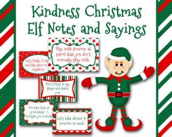 printable elf sayings elf notes etsy