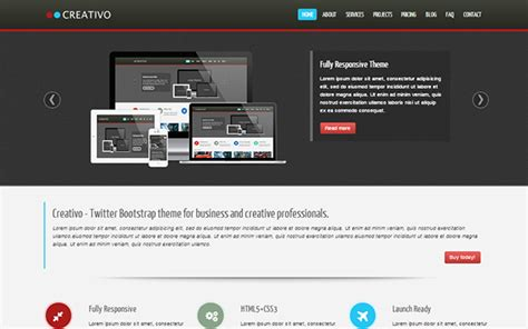 Creativo Responsive Website Template Business Corporate Wrapbootstrap What Is A Bootstrap Website Template
