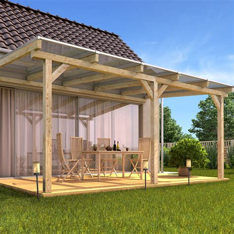 Outdoor Patio Canopy by Solid Wood Canopy Set Roof Polycarbonate Sheet Garden