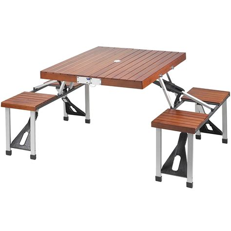 Portable Dining Tables Picnic Table Portable In Patio Dining Tables