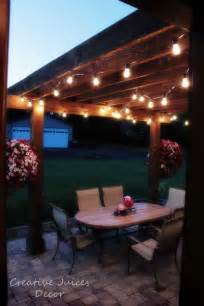 creative juices decor adding string patio lights to the