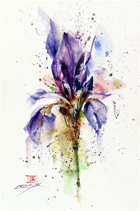 watercolor tutorial iris iris floral watercolor print flower painting watercolor