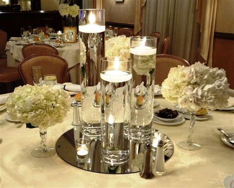 candle centerpieces for home floating candle centerpiece winter wonderland events
