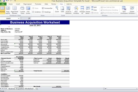 acquisition template free business acquisition template for excel