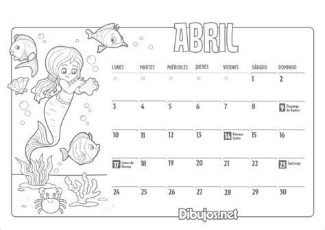 Calendario Por Meses Para Imprimir 2017 Calendario Infantil 2017 Para Imprimir Y Colorear