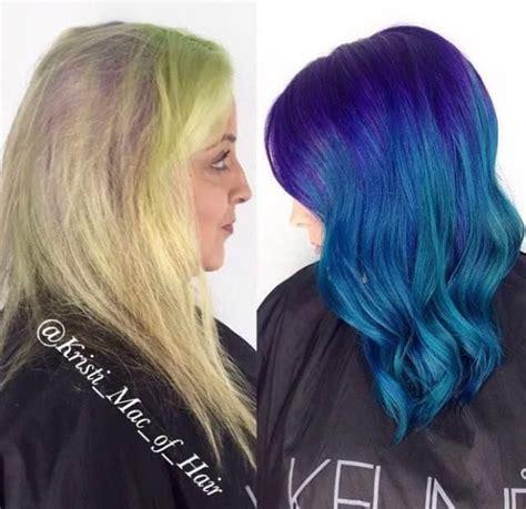 lavender hair color formula fashion fade to purple blue melt wow career salons