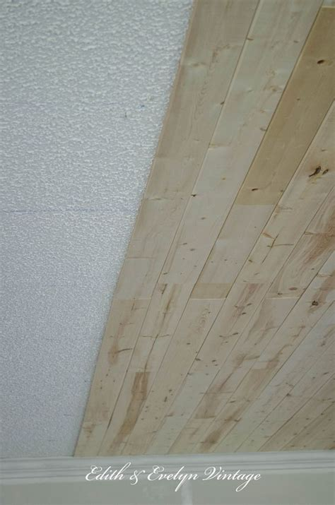 plank ceiling diy how to diy plank a popcorn ceiling for less than 300