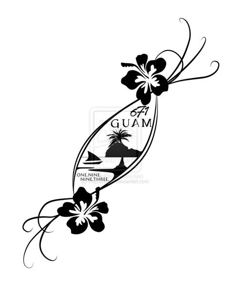 guam tribal tattoo designs like the softness and angle another flower would be