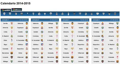 Liga Bbva Calendario Barcelona Conoce El Calendario De La Liga Bbva 2014 15