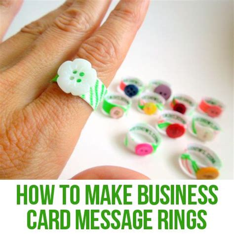 Business Cards For Handmade Crafts - how to make handmade business card rings crafts sewing