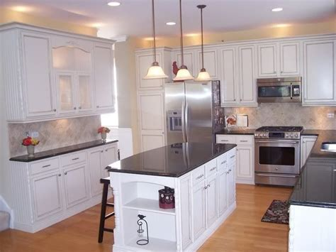 Beautiful Kitchen Remodel With Glazed Cabinets Details Painting Oak Kitchen Cabinets White Before And After