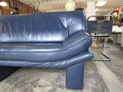 blue leather couch navy blue leather sofa by nicoletti salotti at 1stdibs