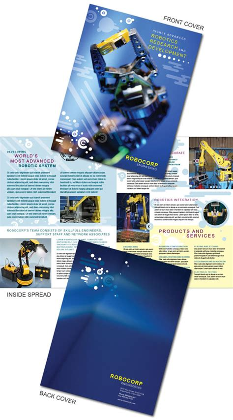 indesign free brochure templates free indesign templates technology company brochures
