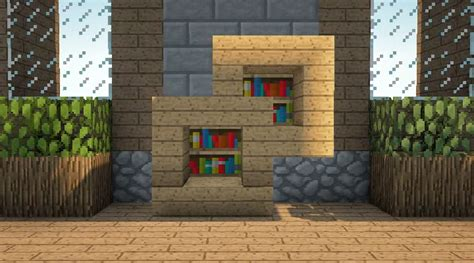 Dresser Bookshelf Combo Minecraft Furniture Storage Minecraft Bookshelves