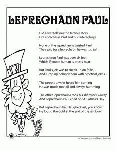 poem from a leprechaun shamrock acrostic poem poem them st patrick s day school stuff on pinterest st patrick s