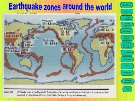 earthquake zones in the world earthquake 1